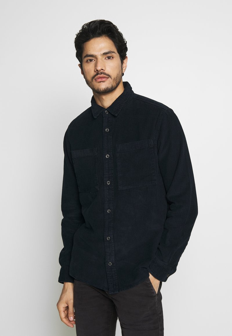 Burton Menswear London - CHUNKY  - Shirt - navy
