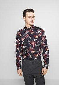 Burton Menswear London - FLORAL - Camisa - navy - 0