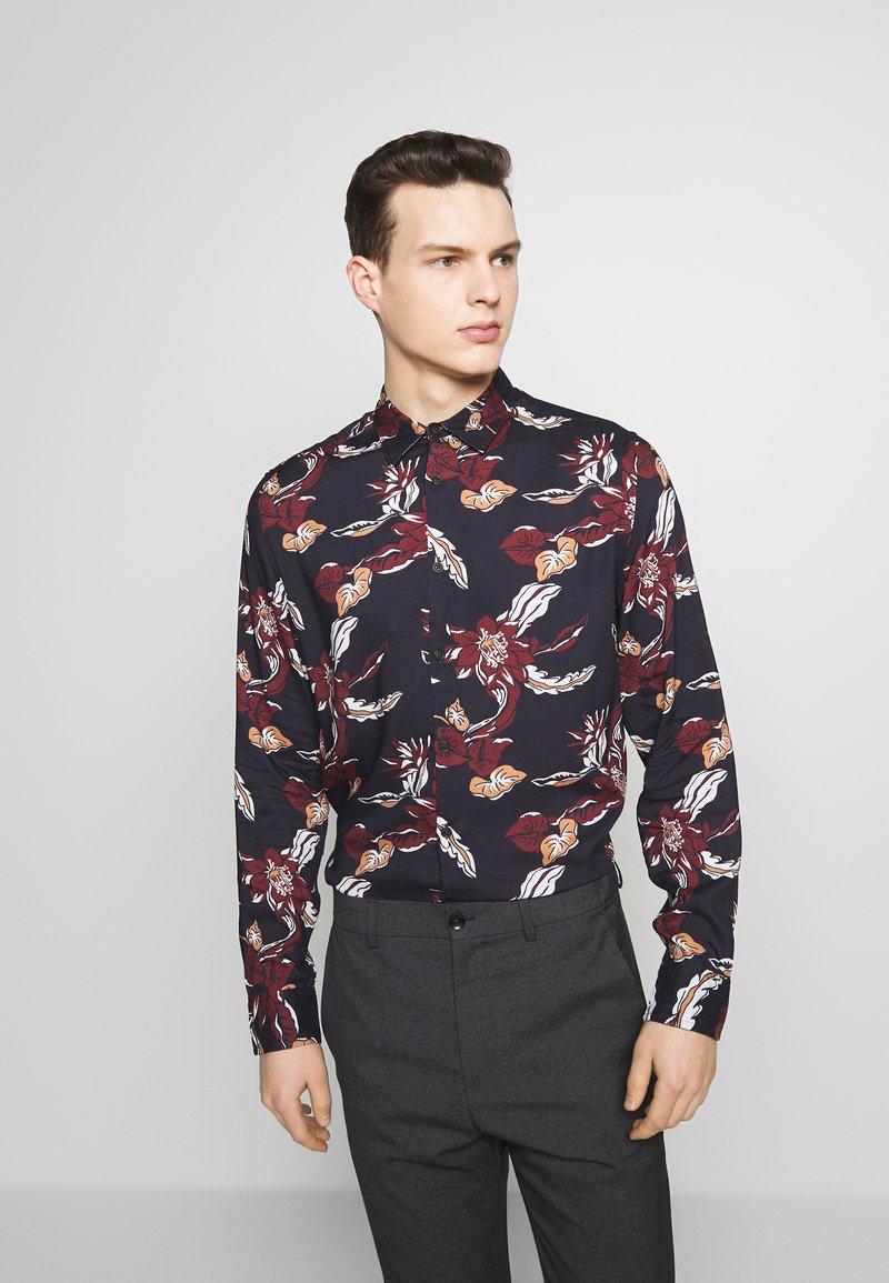 Burton Menswear London - FLORAL - Camisa - navy