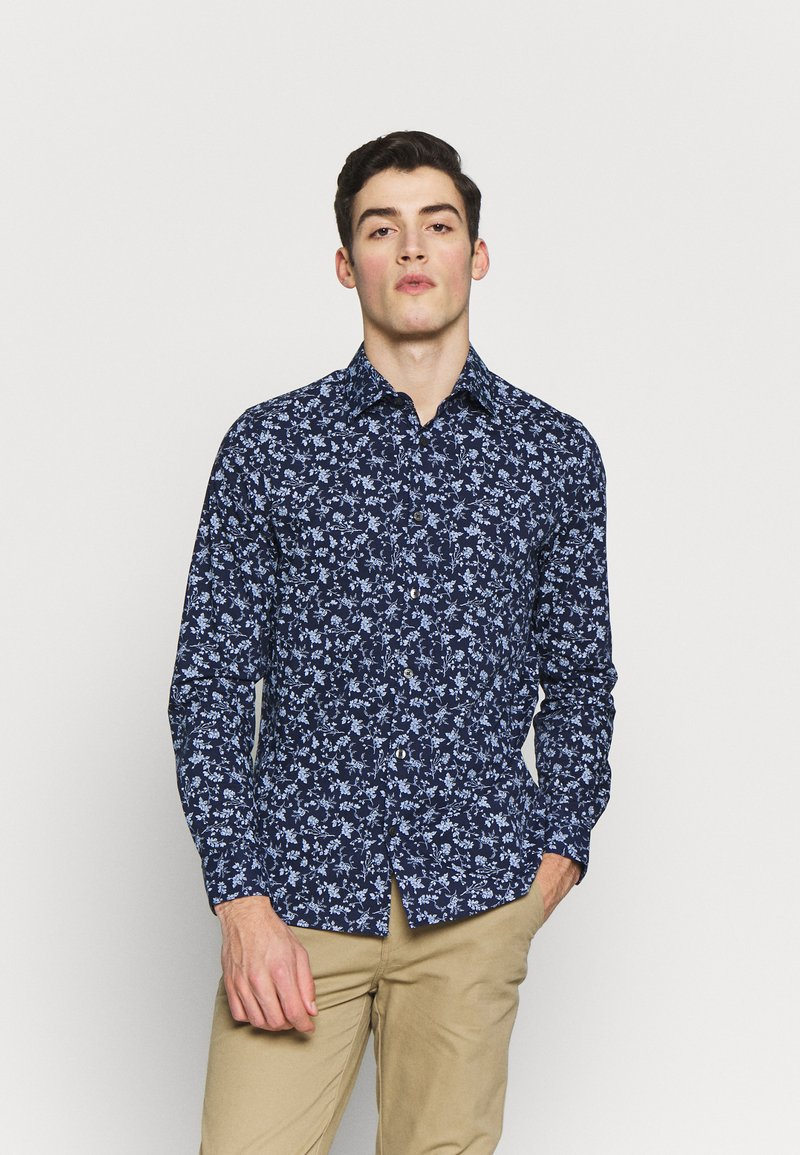 Burton Menswear London - SCATTERED FLORAL - Camicia - navy