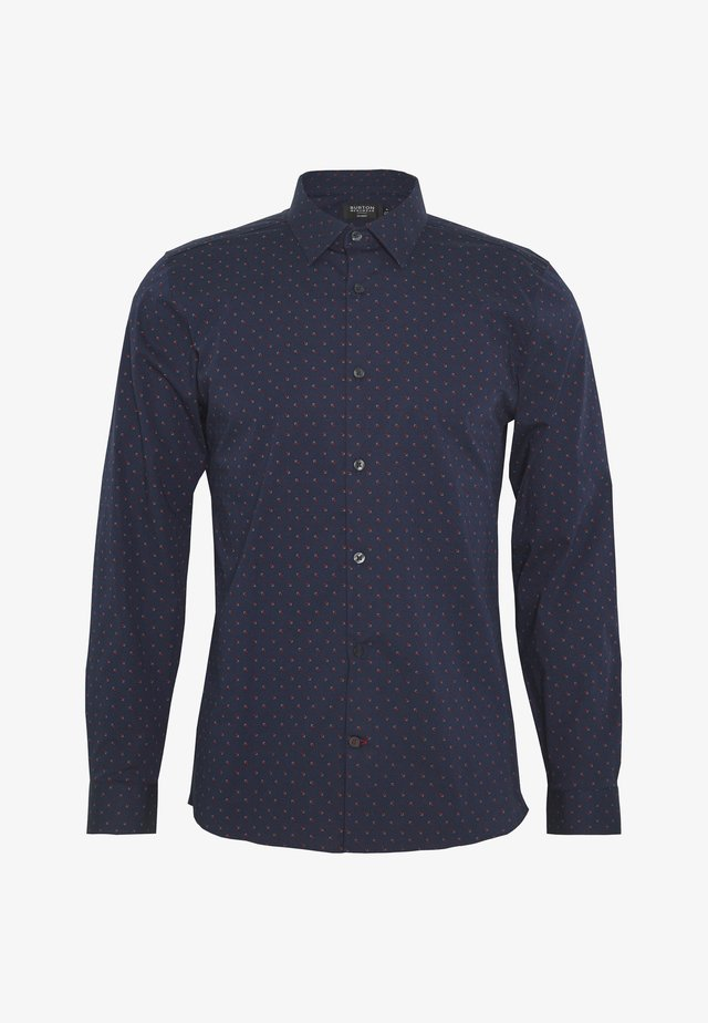 SQUARE PRINT - Shirt - navy