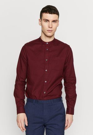LONG SLEEVE GRANDAD OXFORD - Košile - burgundy
