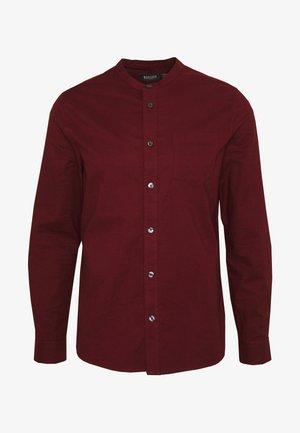 LONG SLEEVE GRANDAD OXFORD - Shirt - burgundy