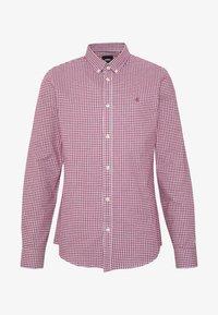 Burton Menswear London - LONG SLEEVEOXFORD GINGHAM  - Camicia - burgundy - 3