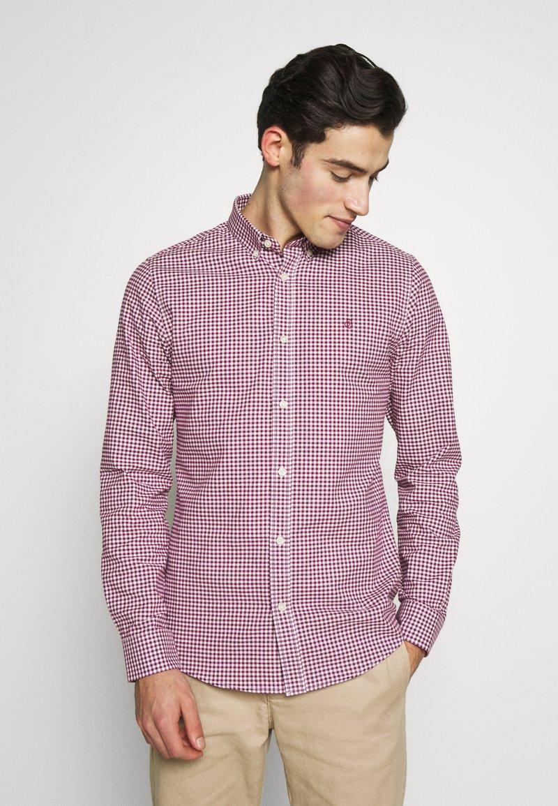 Burton Menswear London - LONG SLEEVEOXFORD GINGHAM  - Camicia - burgundy