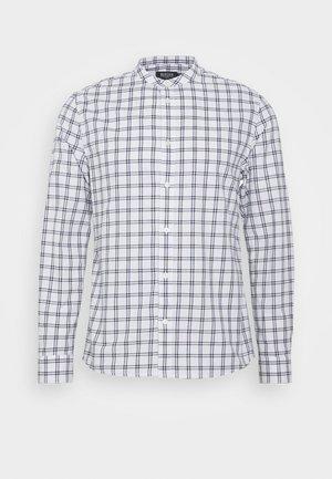 LONG SLEEVE GRANDAD BLEND SHIRT - Camicia - white