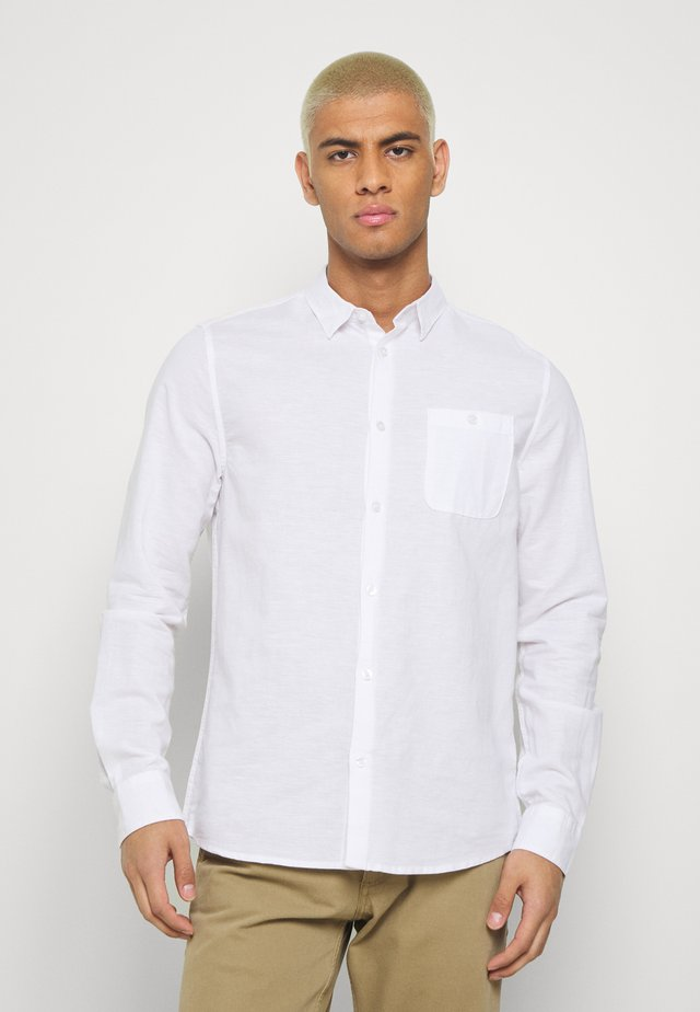 LONG SLEEVE BLEND - Camicia - white