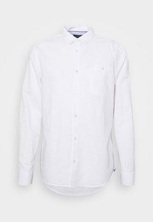 LONG SLEEVE BLEND - Košile - white