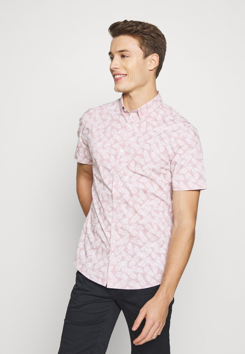 Burton Menswear London - VERDURE  - Vapaa-ajan kauluspaita - pink