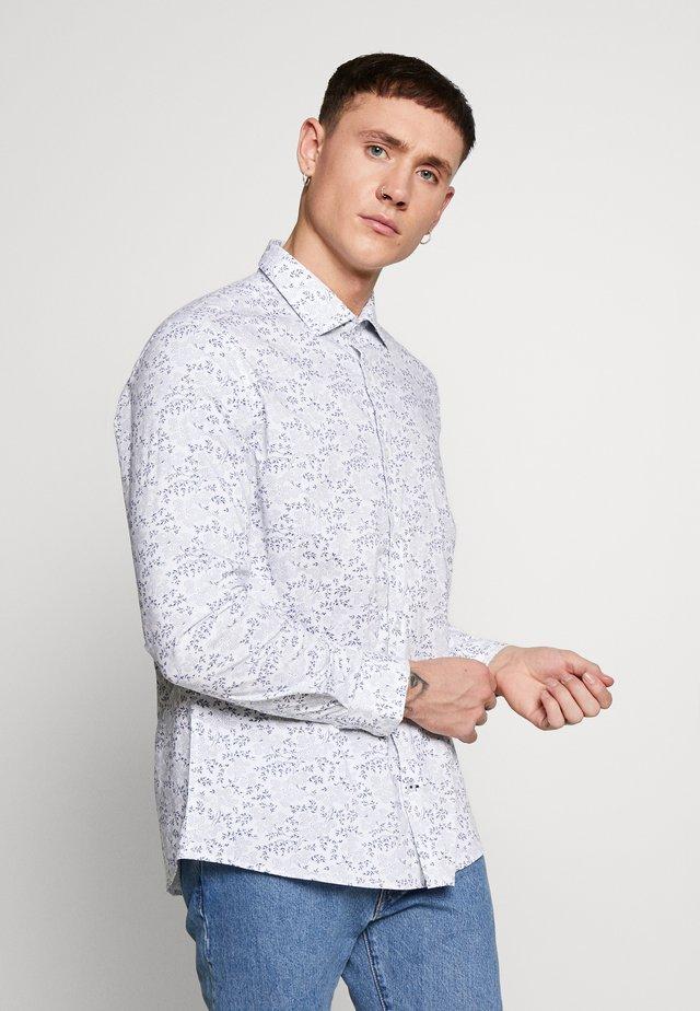 SLIM DOT FLORAL PRINT - Shirt - white