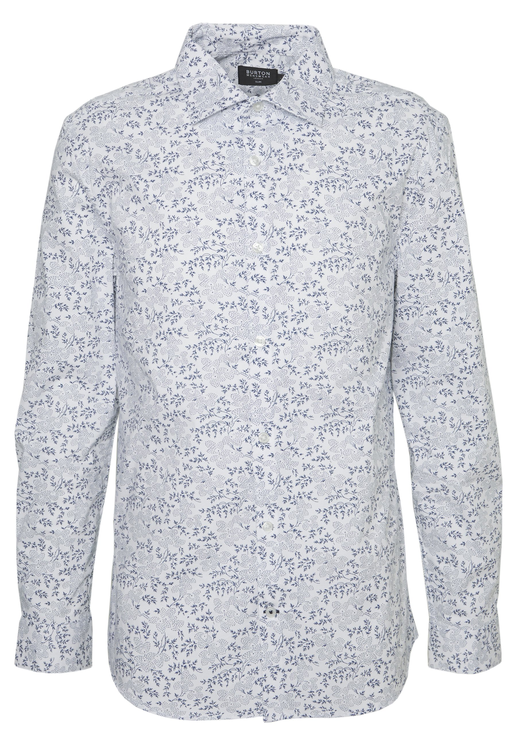 Burton Menswear London SLIM DOT FLORAL PRINT Koszula