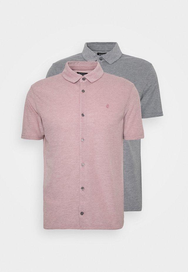 2 PACK  - Shirt - pink/grey