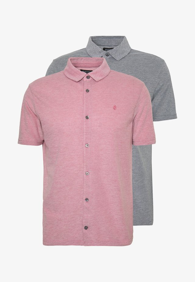 2 PACK  - Poloshirt - pink/grey