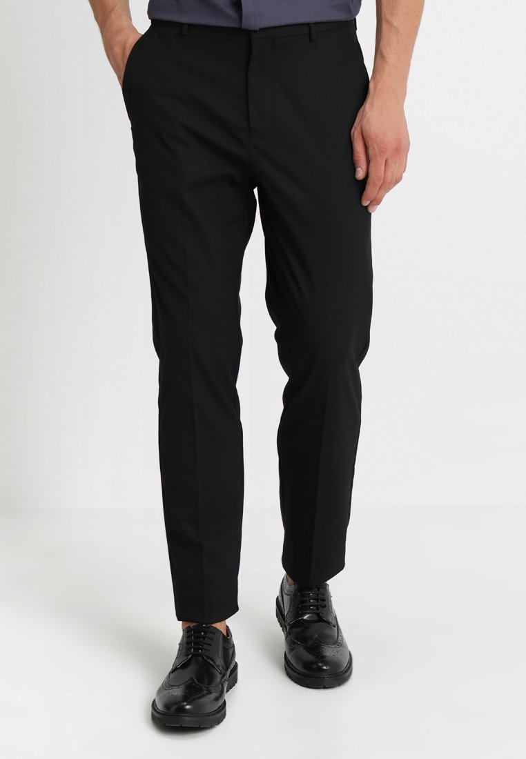 Burton Menswear London - STRETCH TROUSER - Trousers - black