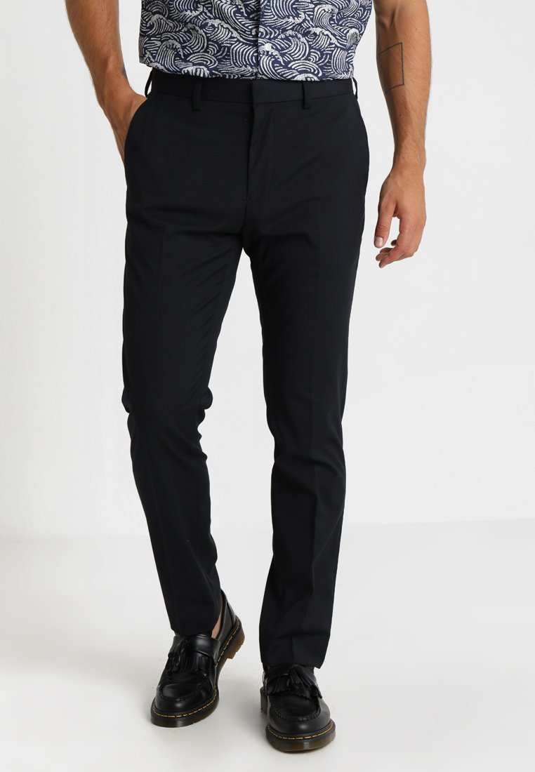 Burton Menswear London - STRETCH TROUSER - Trousers - navy