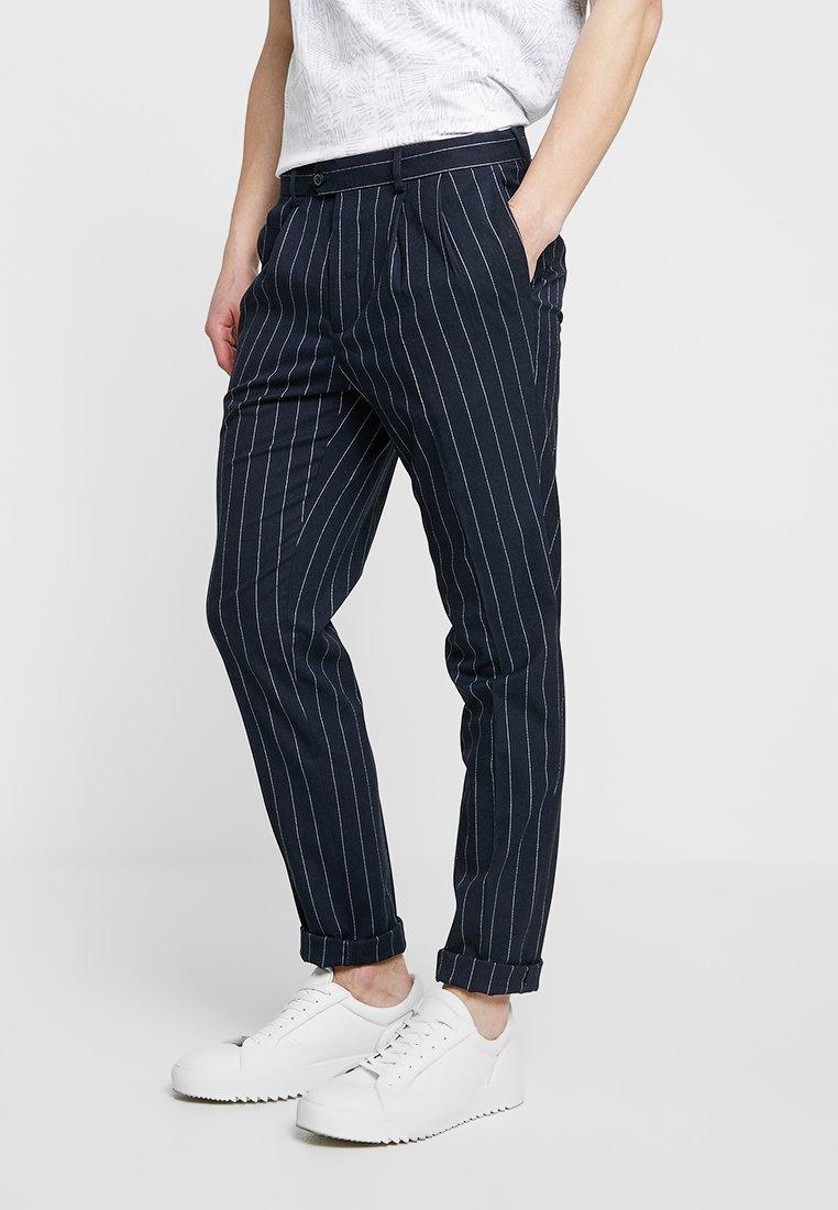 Burton Menswear London - PIN STRIPE TROUSER - Pantaloni eleganti - navy
