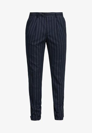 PIN STRIPE TROUSER - Suit trousers - navy