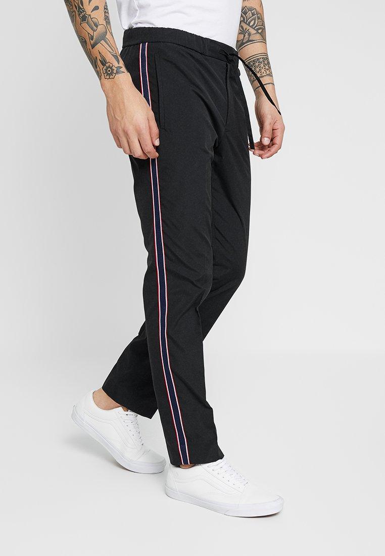 Burton Menswear London - SIDE STRIPE TROUSER - Trousers - black