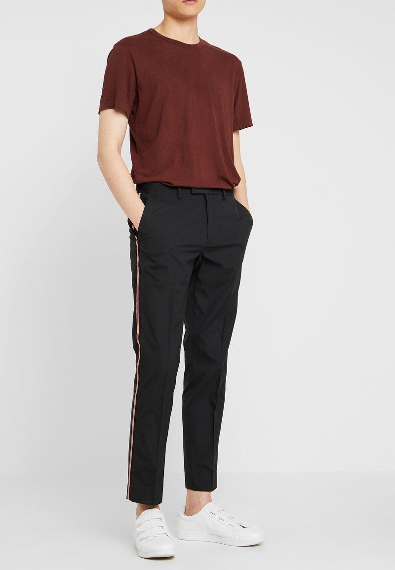 Burton Menswear London - MULTI SIDE STRIPE TROUSER - Stoffhose - black