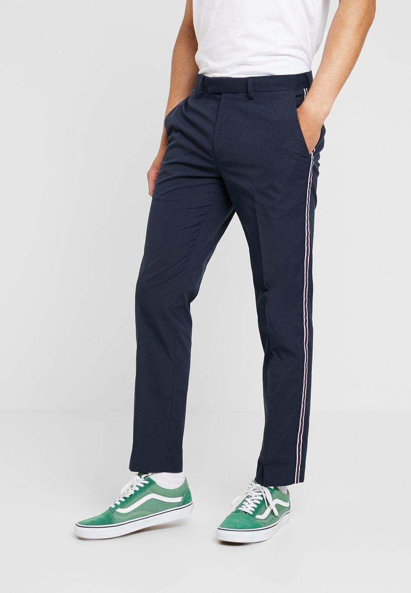Burton Menswear London - SIDE STRIPE TROUSER - Trousers - navy