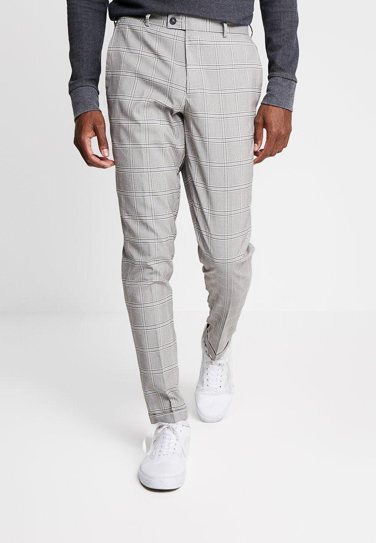 Burton Menswear London - WINDOWPANE CHECK TROUSER - Suit trousers - tan
