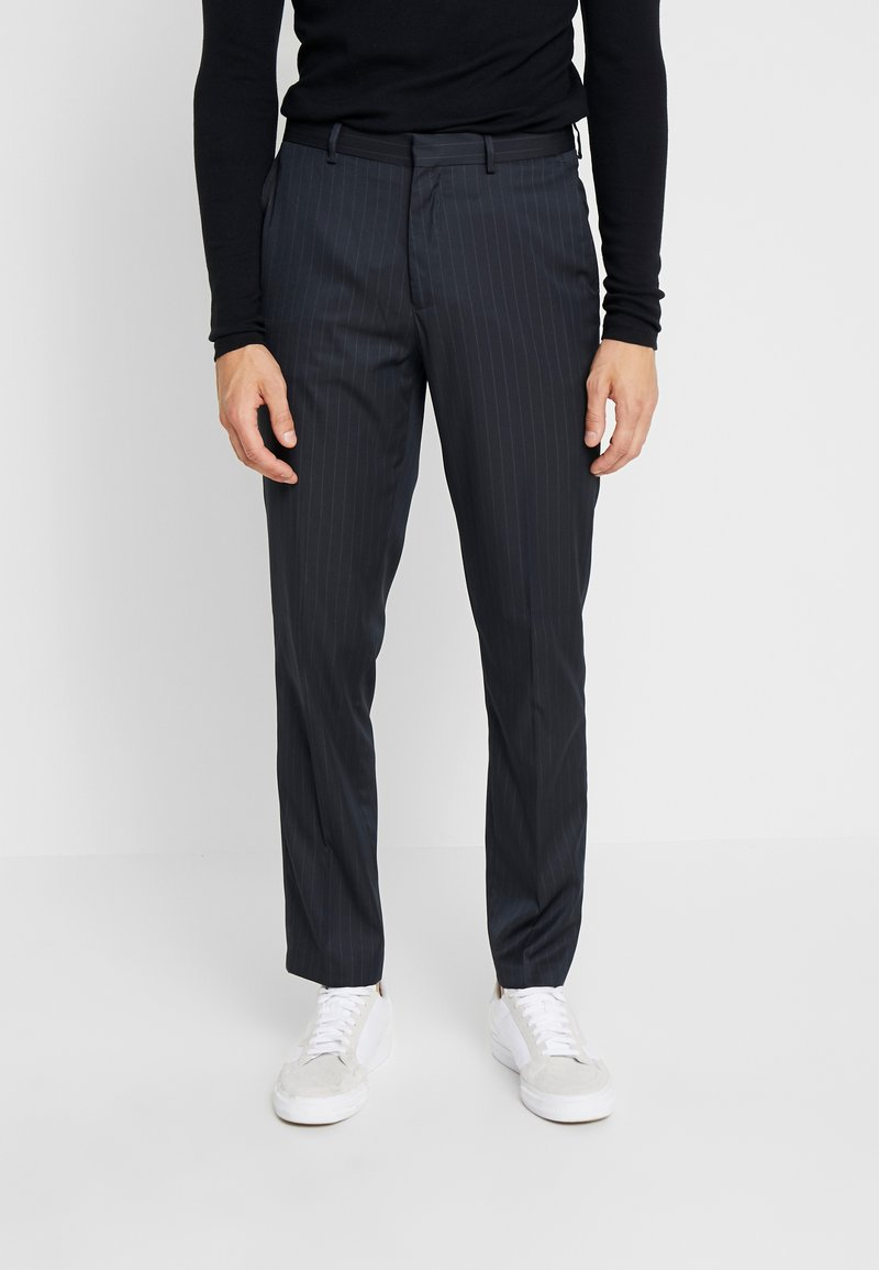 Burton Menswear London - PINSTRIPE - Broek - navy