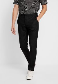 Burton Menswear London - Tygbyxor - black - 0