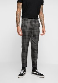 Burton Menswear London - CHECK - Kalhoty - black - 0