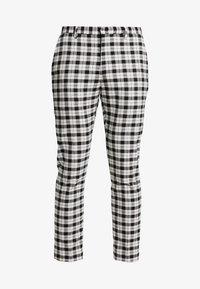 Burton Menswear London - TARTAN MONOCHROME CHECK - Tygbyxor - black - 3