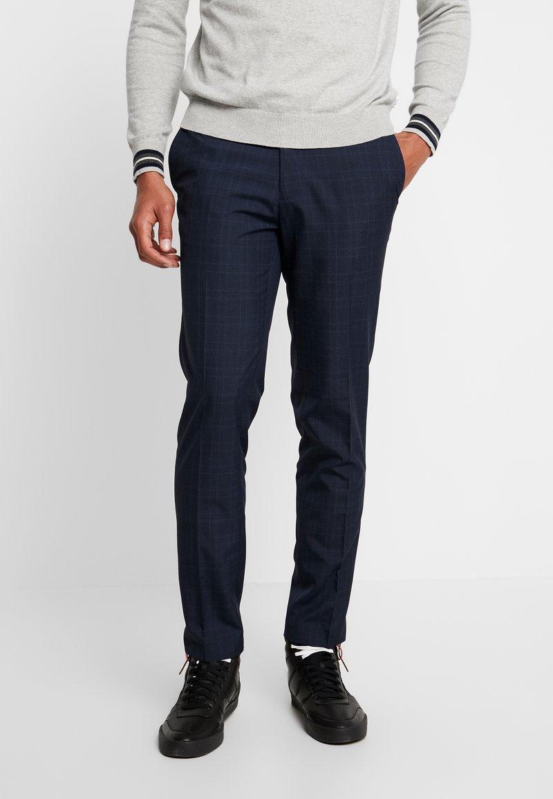 Burton Menswear London - FINE CHECK - Broek - navy