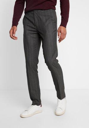 STRIPE - Trousers - dark grey