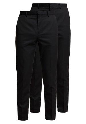 2 PACK - Pantalon classique - black