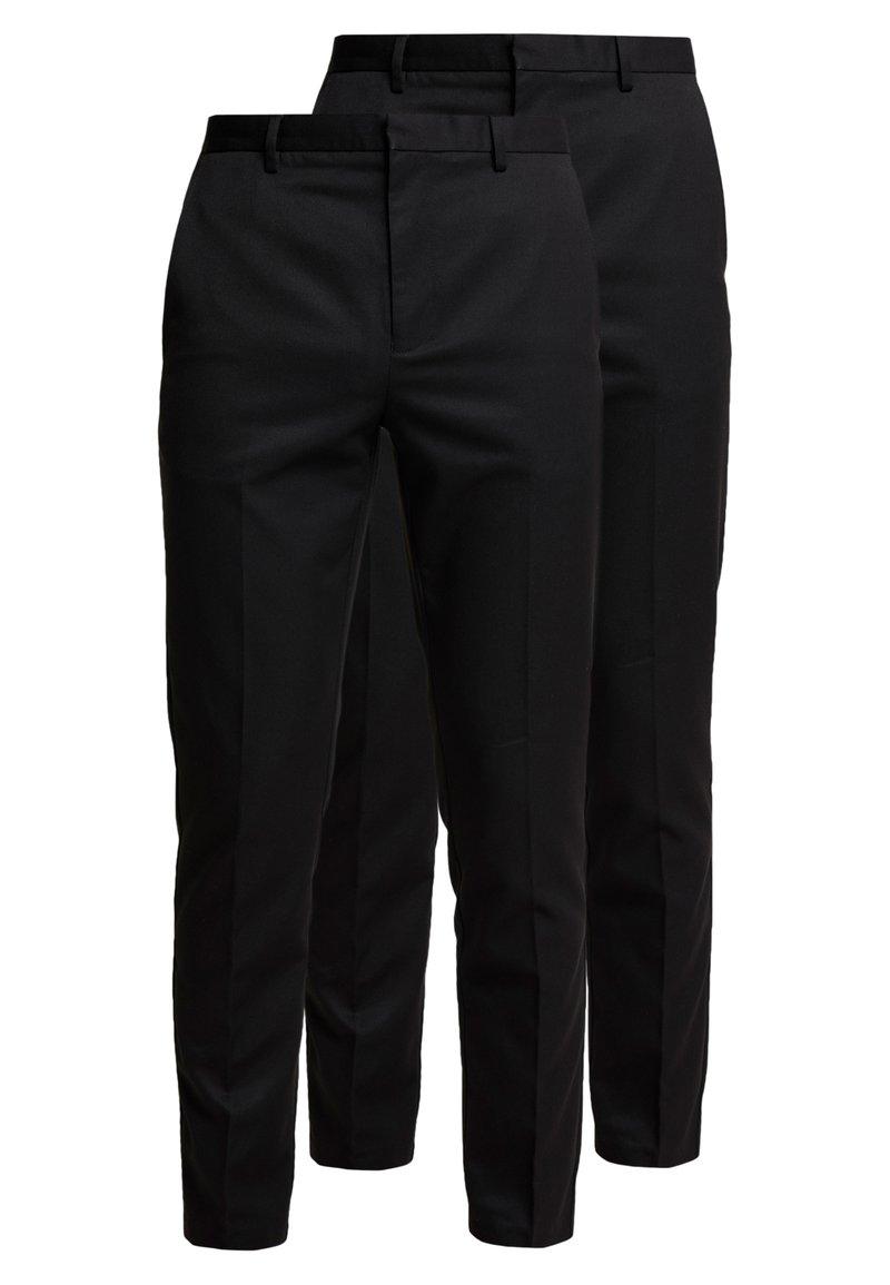 Burton Menswear London - 2 PACK - Trousers - black