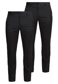 Burton Menswear London - 2 PACK - Pantalon de costume - black - 0