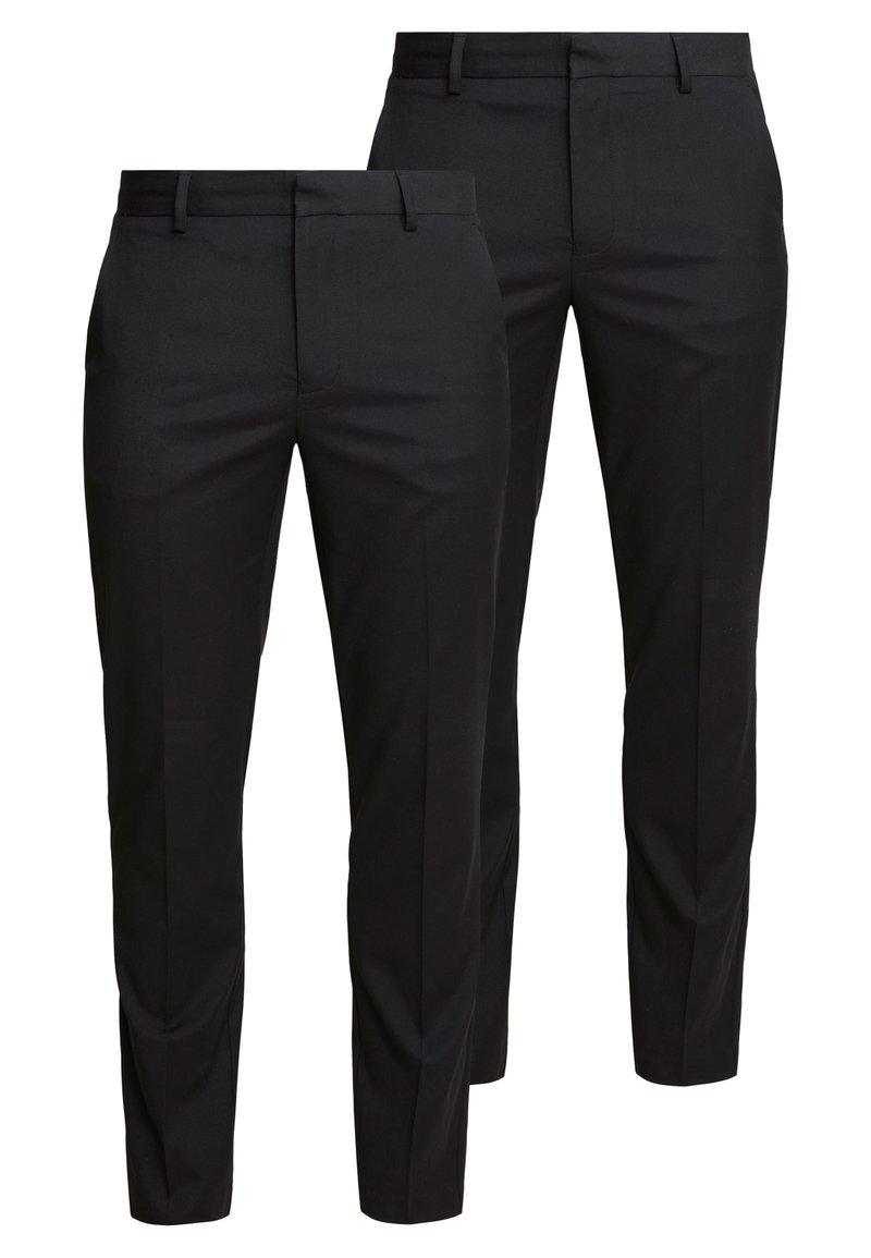Burton Menswear London - 2 PACK - Pantalon de costume - black