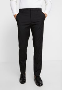 Burton Menswear London - 2 PACK - Oblekové kalhoty - black - 2