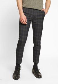 Burton Menswear London - TARTAN - Broek - navy - 0