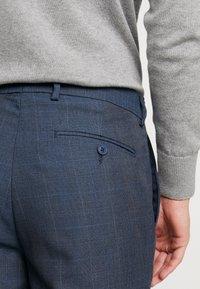 Burton Menswear London - HIGHLIGHT CHECK - Pantalon classique - blue - 5