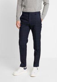 Burton Menswear London - HIGHLIGHT CHECK - Kalhoty - navy - 0
