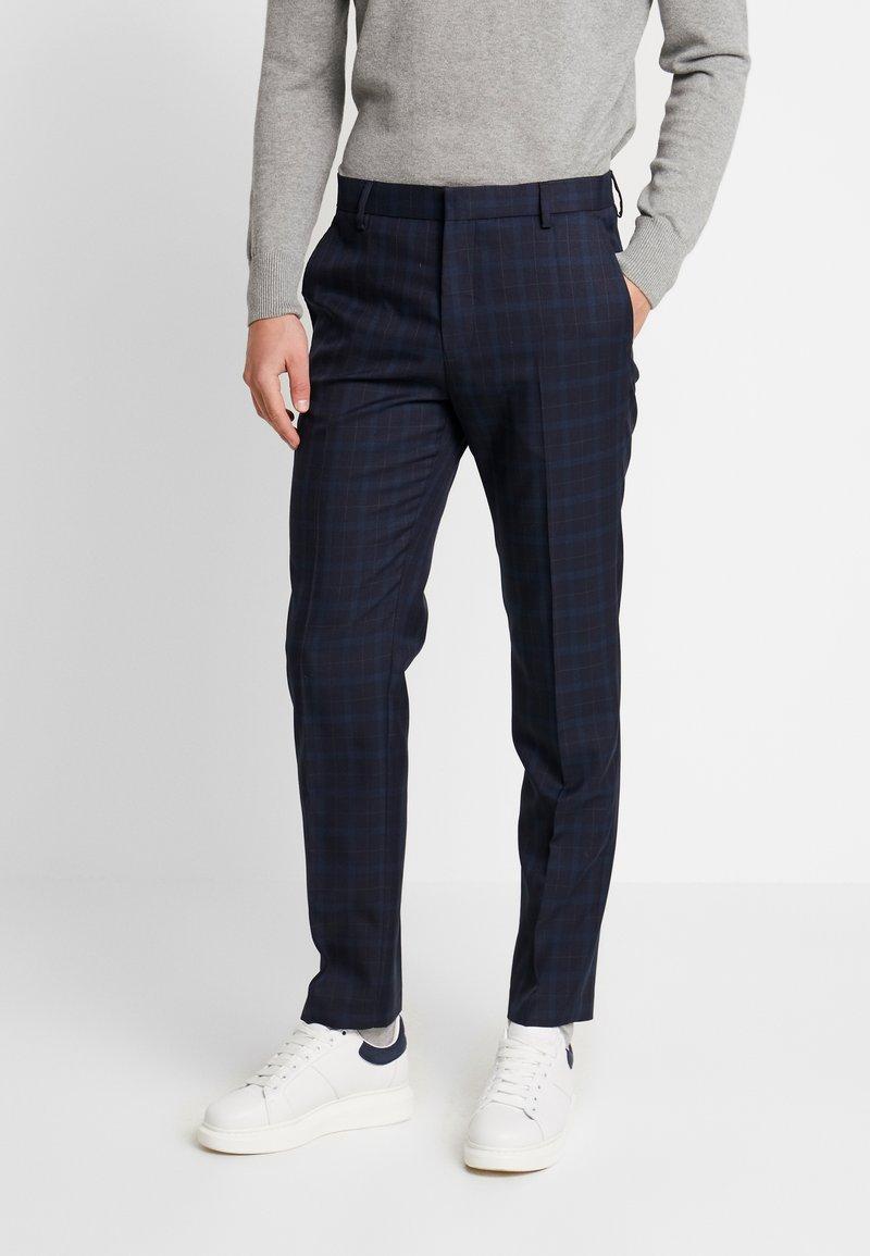 Burton Menswear London - HIGHLIGHT CHECK - Kalhoty - navy