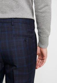 Burton Menswear London - HIGHLIGHT CHECK - Kalhoty - navy - 5