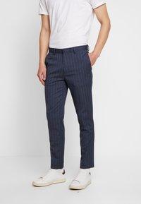 Burton Menswear London - CHALK STRIPE - Kalhoty - blue - 0