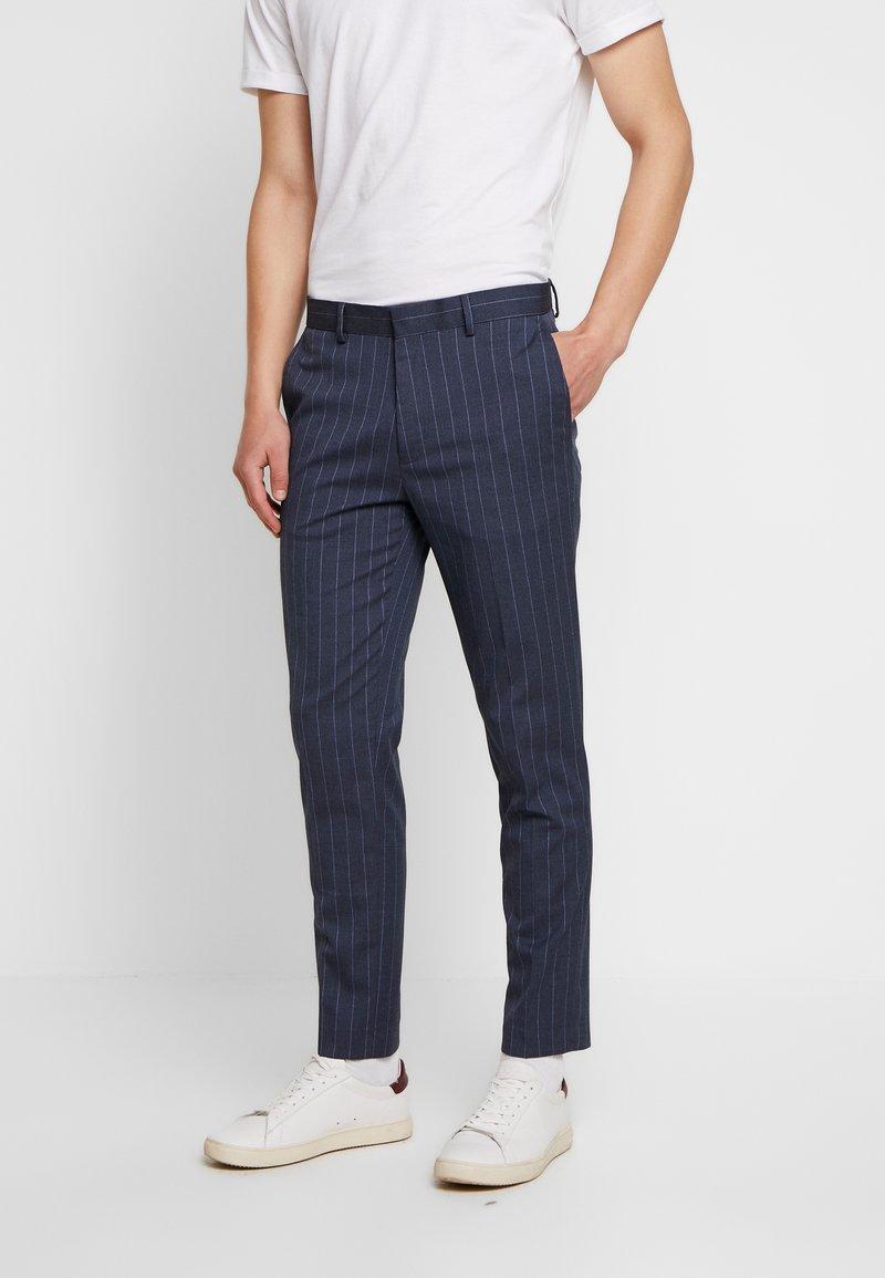 Burton Menswear London - CHALK STRIPE - Kalhoty - blue