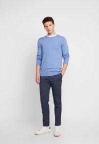 Burton Menswear London - CHALK STRIPE - Kalhoty - blue - 1