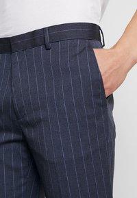 Burton Menswear London - CHALK STRIPE - Kalhoty - blue - 3