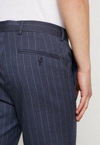 Burton Menswear London - CHALK STRIPE - Kalhoty - blue - 5