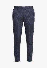 Burton Menswear London - CHALK STRIPE - Kalhoty - blue - 4