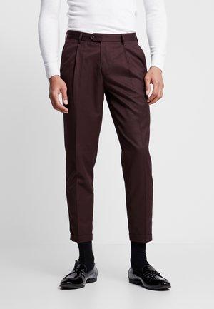 Pantalon classique - burgundy