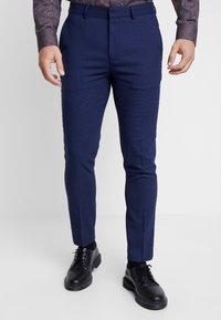 Burton Menswear London - COBALT DOGTOOTH - Broek - blue - 0