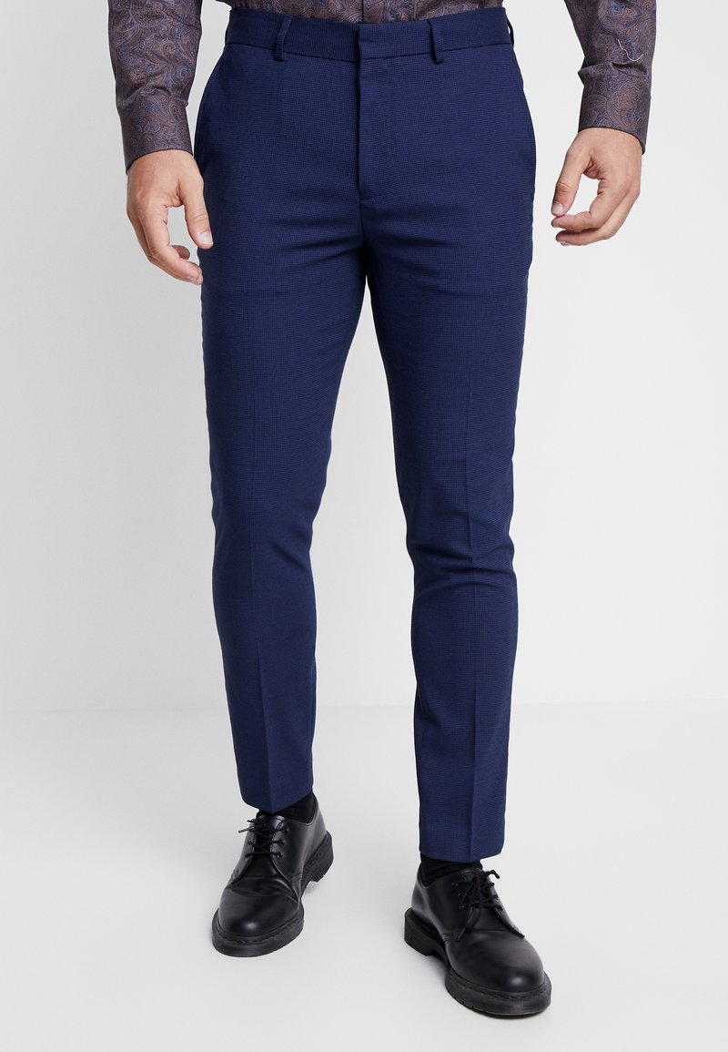 Burton Menswear London - COBALT DOGTOOTH - Broek - blue